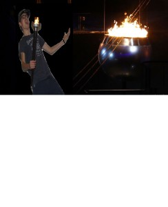 Patrick bij olympisch vuur